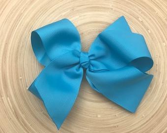 Turquoise Blue large boutique bow