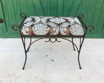 Vintage Vanity Seat, Wrought Iron,Classy Bench