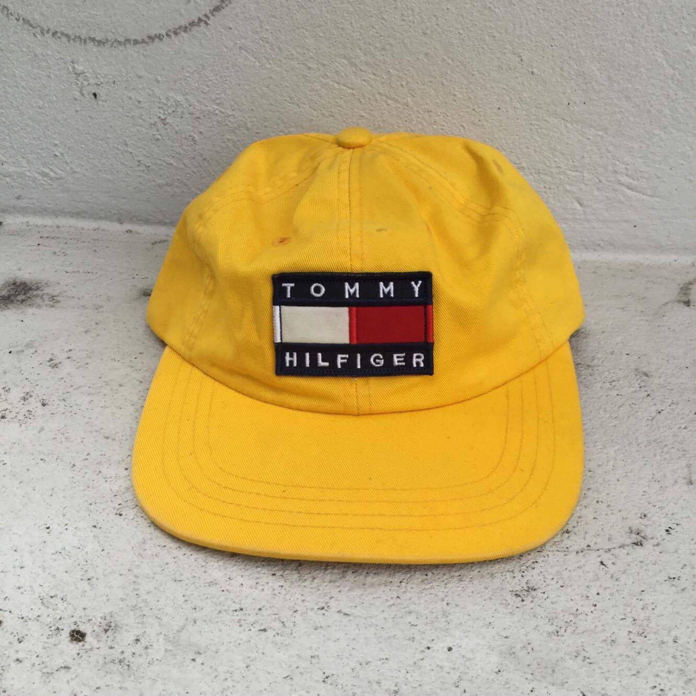 210e9a7e8f1 Free Shipping Vintage 90s Tommy Hilfiger flag logo cap