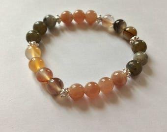 "Bracelet special well-being ""reboost"" 8 mm stones."