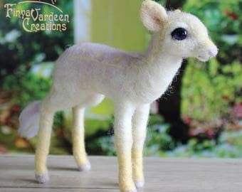 "Unicorn newborn foal ""soft Rainbow"" - needle felted wool - mobile - (pre-order! Is specially made for you)"