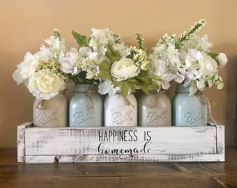 mason jar centerpiece, farmhouse decor, mason jar farmhouse, wedding decor, mason jar, mason jar decor, mason jar table decor, rustic mason