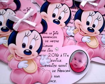 minnie baptism invitation