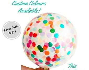 Giant Confetti Balloon 90cm Huge Jumbo Party decoration!