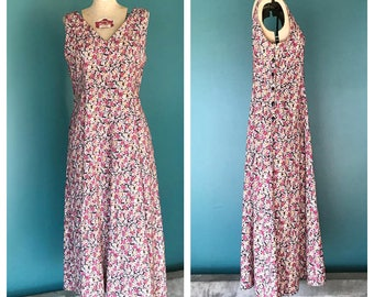 Vintage 90s Floral Grunge Market Dress, 90s Grunge Dress, 90s Maxi Dress, 90s Floral Dress, Vintage Grunge Dress, TaraLynEvansStudio