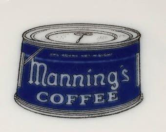 Manning's Coffee Cup Saucer Restaurant Ware 1940s-50s West Coast Chain Seattle Washington Pike's Place Market to San Francisco California