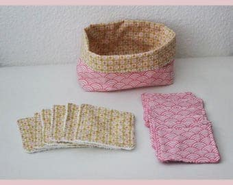 basket and its 12 wipes eco-friendly cotton Terry