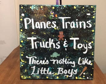 Planes, trains, trucks and toys