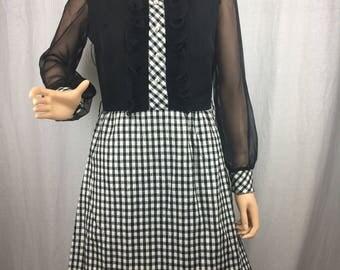 Fab 1970s Tuxedo Dress