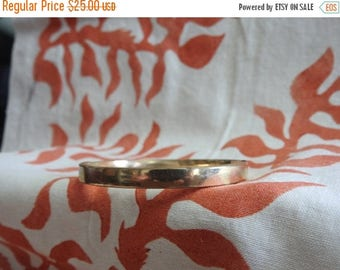 ON SALE stunning vintage 12k gold filled bangle bracelet 7 inches