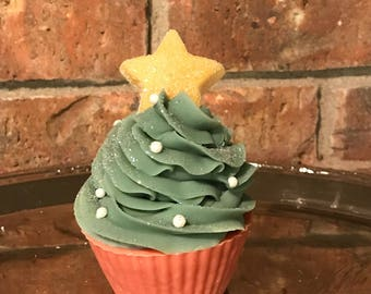 Mulberry Christmas Tree Soap Cupcakes Handcrafted Christmas Gift Exchange Gift