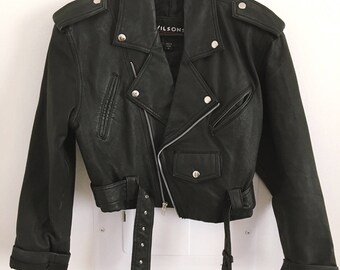 80s Vintage Wilson's Leather Jacket