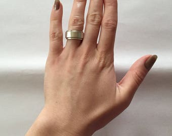 sterling silver solid thick band ring | minimalist silver band ring | size 5