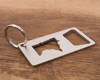 Minnesota Key Chain Bottle Opener / MN Gift Ideas / Minnesota Bottle Opener