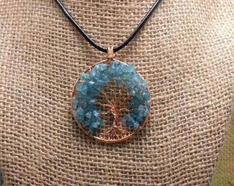 apatite tree of life pendant & 18 inch starter necklace.