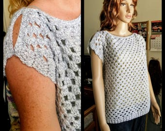 Stylish Summer Crochet Pullover Top Pattern