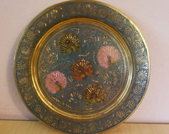 Vintage Decorated Wall plate. Vintage Plate. Home decor, restaurant decor.