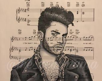 Legends on Music series - Adam Lambert (print)