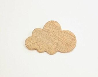 """Brooch """"cloud wood"""""""
