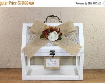 ON SALE Wedding Chicken Wire Card Box / Wedding Greenhouse Box / Greenhouse Card Box