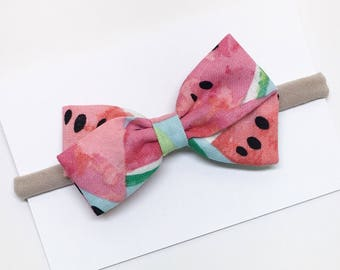 Baby Hair Bows - Pink - Hair Bows - Headband or Clip
