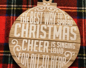 Christmas Cheer Ornament Sign