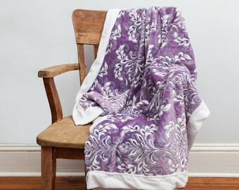 Purple Throw Blanket, Purple, Throw Blanket, Soft Blanket, Purple Blanket, Purple Decor, Purple White, Minky Blanket, Purple Home Decor