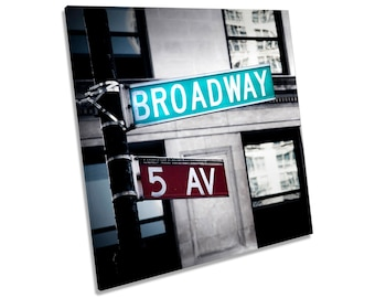 Broadway New York City CANVAS WALL ART Square Print