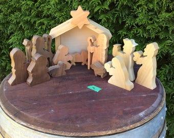 Bigger Size Wooden Nativity Set