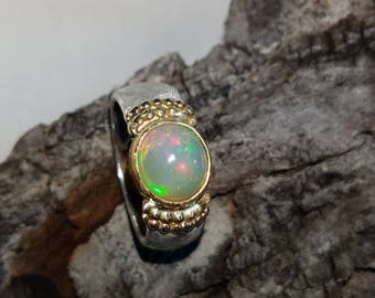 Opal Gold and Silver Ring