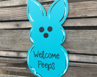 Easter Door Hanger-Bunny, bunny door hanger, Easter decor, front door decor, front door hanger,