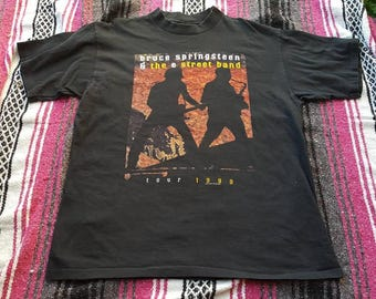 Bruce Springsteen and the E street band shirt Size XL Vintage 90s rock n roll born in the USA classic