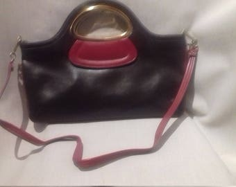1960s Vintage  Handbag / with a long strap.