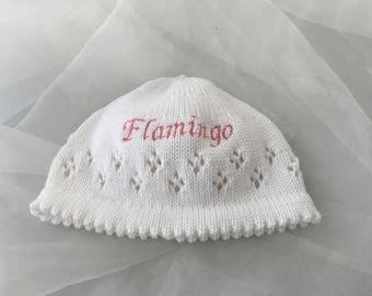"Baby Beanie hat ""Flamingo"""