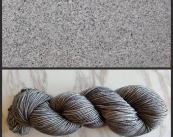 Hand Dyed Yarn, Merino, DK Weight Tonal Yarn, Perfect for Hats, Scarves, Sweaters and all Winter Accessories - Granite