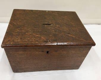 Georgian Oak Collection Box circa 1795