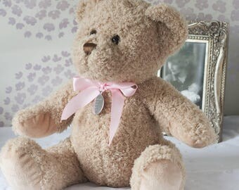 Small New Baby Girl Personalised Bramble Bear