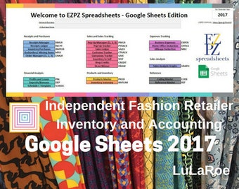 2017 Google Sheets Version - Inventory and Accounting for LuLaRoe Fashion Retailers