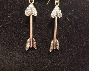 Heart Arrow earrings
