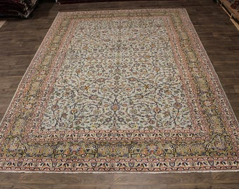 Gorgeous Allover Design Kashan Antique Persian Area Rug Oriental Carpet 10X14