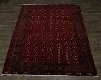 Great Shape Allover Design Rare Turkoman Persian Rug Oriental Area Carpet 7X9