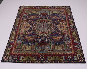 Stunning Antique Archaeology Kashmar Persian Oriental Area Rug Carpet 10X12