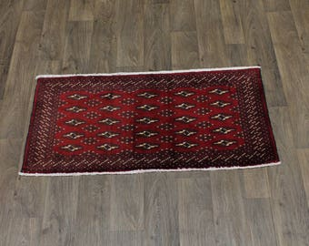 Lovely Hand Knotted Tribal Small Turkoman Persian Rug Oriental Area Carpet 2X4