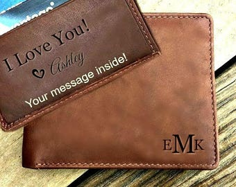 Personalized men's wallet • Christmas gift for boyfriend • personalized gift for boyfriend, personalized Christmas gift • Toffee* 7751