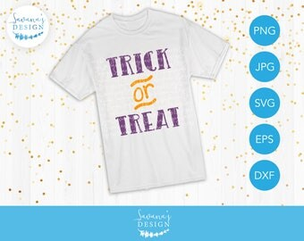 Trick or Treat SVG, Halloween Quote SVG, Halloween SVG Cut Files, Halloween Svg Designs, Halloween Svg Files for Cricut, Halloween Sayings