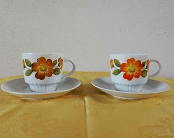 2 cups and saucers Tirschenreuth Bavaria