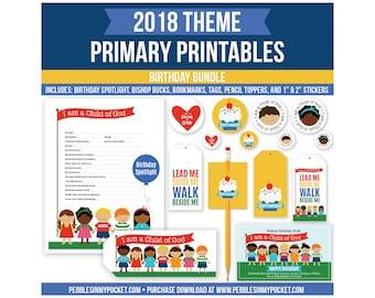 Primary 2018 Birthday Bundle Digital Download