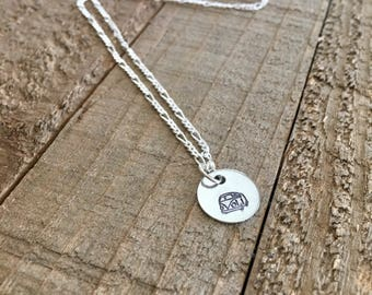 """VW necklace-VW bus necklace-1/2"""" VW necklace-handstamped necklace-gift-necklace"""