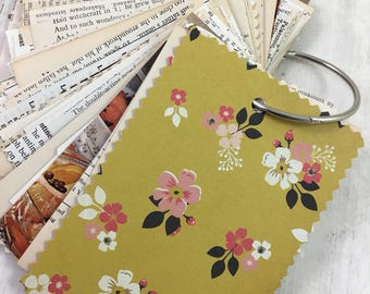 Mini Junk Journal,   Smash Book,  Mixed Paper Journal, Pocket Journal, Chunky Journal, 150-9
