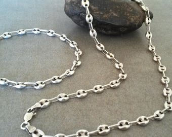 gucci necklace mens. gucci style mens silver chain . sterling set bracelet and necklace